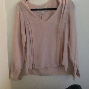 Rory Becca blush colored 100% silk blouse